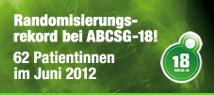 ABCSG-18 Rekord