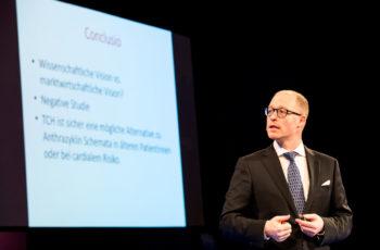ABCSG-Präsidiumsmitglied Univ.-Doz. Dr. Peter Dubsky fasst die negativen Ergebnisse der BETH-Studie zusammen.