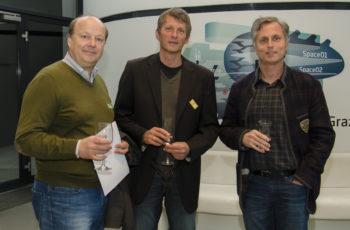 OA Dr. Walter Herz, Prim. Dr. Othmar Grabner und Prim. Dr. Andreas Wiegele (v.l.n.r.) sind gespannt auf die Fallpräsentationen.