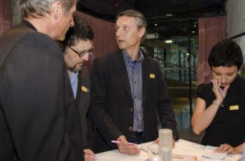 Arbeitsgruppe mit Gruppensprecher OA Dr. Christian Radl (Mitte).