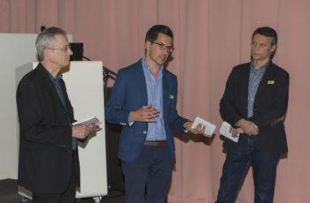 Die Gruppensprecher präsentieren ihre Ergebnisse: OA Dr. Christoph Tinchon, Dr. Christoph Suppan und OA Dr. Christian Radl (v.l.n.r.).