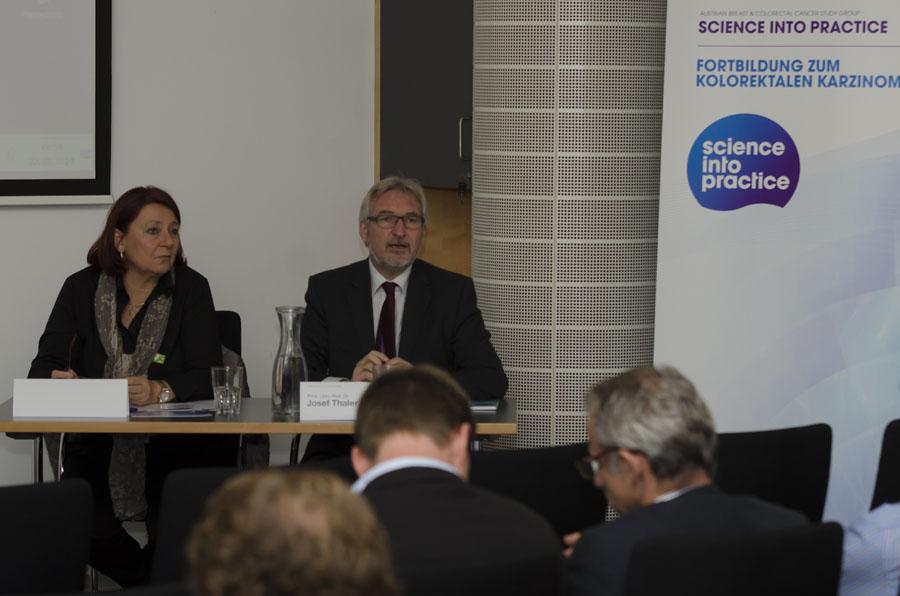 Sprang für den verhinderten Univ.-Prof. Dr. Hellmut Samonigg als Vorsitz ein: Ass.-Prof. Dr. Renate Schaberl-Moser.