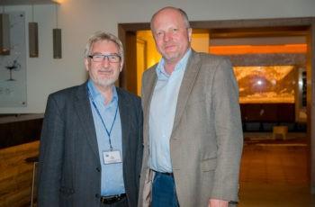 Auch die Colorectal Branch war am Abend gut vertreten: Prim. Univ.-Prof. Dr. Josef Thaler und Prim. Univ.-Prof. Dr. Dietmar Öfner (v.l.n.r.).
