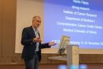 Inhaltlich sehr komplex: ABCSG-Vorstandsmitglied Assoz.-Prof. Univ.-Doz. Mag. Dr. Martin Filipits über mammalian target of rapamycin (mTOR)