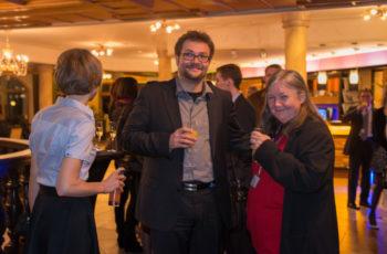 Gut gelaunt: Dr. Tadeusz Panhofer und ABCSG-Vorstandsmitglied Univ.-Prof. Dr. Margaretha Rudas
