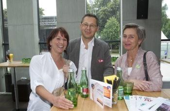 Bestens gelaunt: OÄ Dr. Monika Penzinger (links) mit KollegInnen.