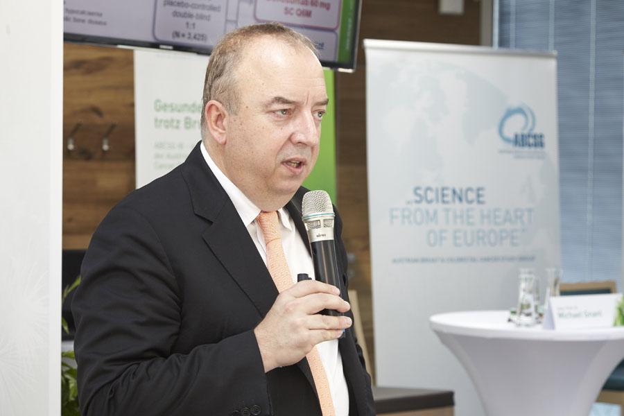 Direkt vom ASCO angereist: ABCSG-Präsident Univ.-Prof. Dr. Michael Gnant.