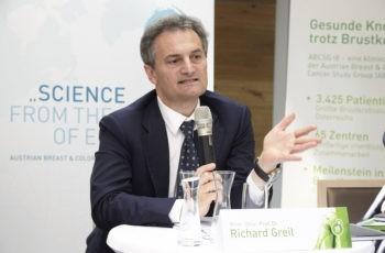 """""""ABCSG 18 zeigt eindrucksvoll, dass das Frakturrisiko bei Brustkrebspatientinnen bisher grob unterschätzt wurde"""": Prim. Univ.-Prof. Dr. Richard Greil."""