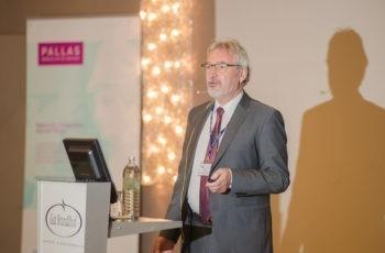 Prim. Univ.-Prof. Dr. Josef Thaler informierte über die Aktivitäten und Projekte der Colorectal Branch und freut sich, dass die innovative Bewegungsstudie ABCSG C08/Exercise im nächsten Jahr starten kann.