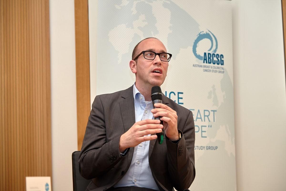 Extra aus St. Gallen angereist: ABCSG-Experte Michael Knauer.