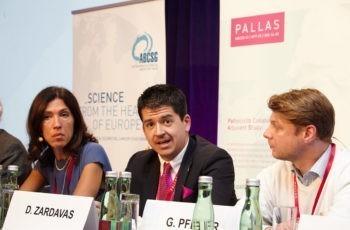 Auch hier waren Partner mit an Bord: Dimitrios Zardavas, Stellvertretender Wissenschaftlicher Direktor der Breast International Group.