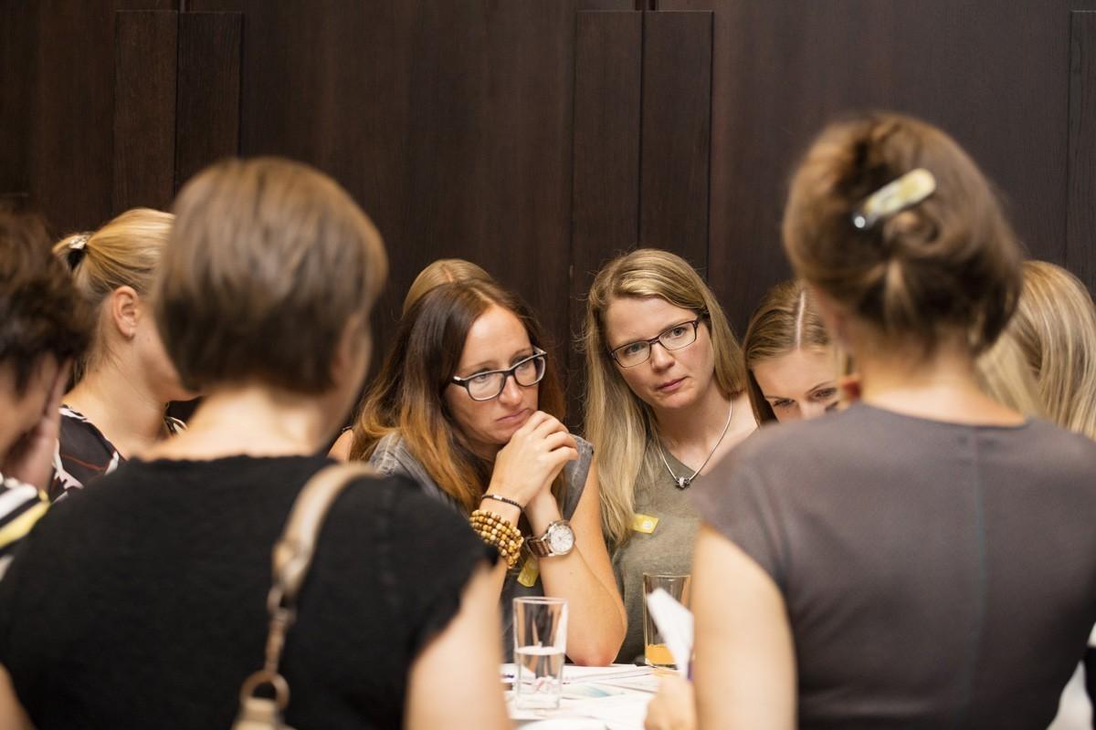 Die Gruppen waren konzentriert bei der Arbeit – Gelb.