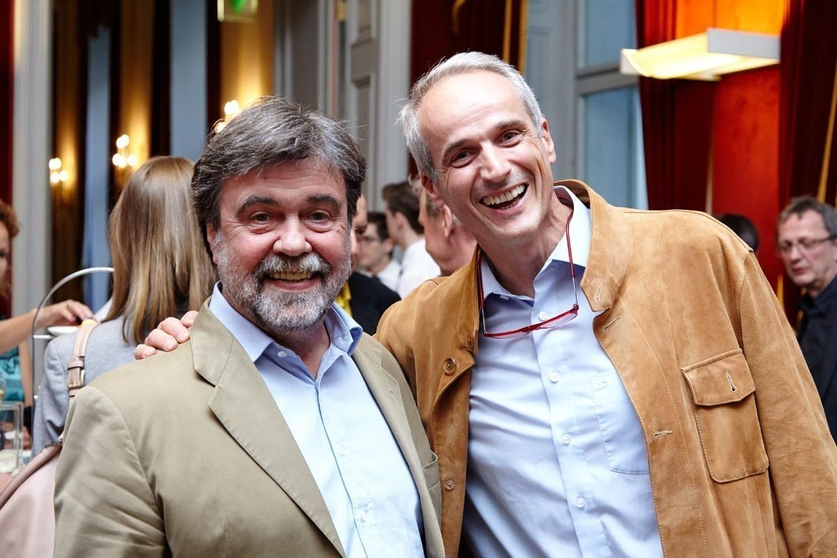 Prim. Dr. Wolfgang Stiglbauer (links) und Prim. Univ.-Doz. Dr. Friedrich Längle aus Wiener Neustadt sind gut drauf.