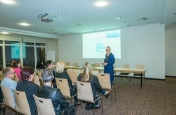Beim Come Together des Forum Study Nurses & Coordinators stellte Natalija Frank unter anderem den neu gegründeten Berufsverband vor.