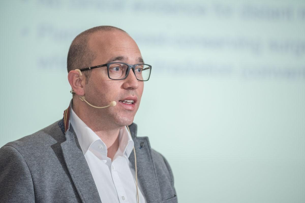 Natürlich auch wieder mit dabei: Michael Knauer kam aus St. Gallen, um ABCSG 43/INSEMA zu präsentieren.