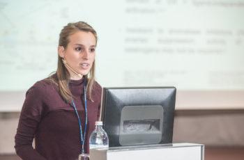 Begeisterte mit einem souveränen und kompetenten Vortrag – Elisabeth Bergen reichte ebenfalls ein Studienproposal ein.