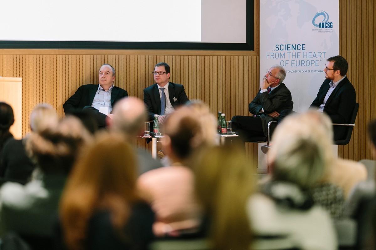 Panel: Michael Gnant, Rupert Bartsch, Günther Steger und Daniel Egle (v.l.n.r.).