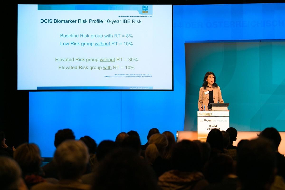 Gefolgt von der nicht weniger souveränen Marija Balic, erste weibliche Vize-Präsidentin der ABCSG, die über aktuelle Daten zum HER2-positiven Mammakarzinom, DCIS und Bisphosphonate rapportierte.