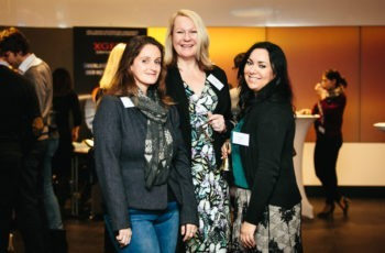 Das Team von Universimed: Alice Kment, Barbara Vogler-Hemzal und Yasmine Hassanyar (v.l.n.r.).