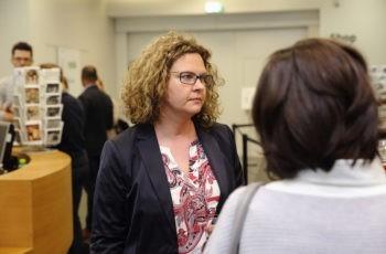 Panelist Carmen Döller, die auch maßgeblich an der kommenden Pankreasstudie der ABCSG, P02, beteiligt ist.