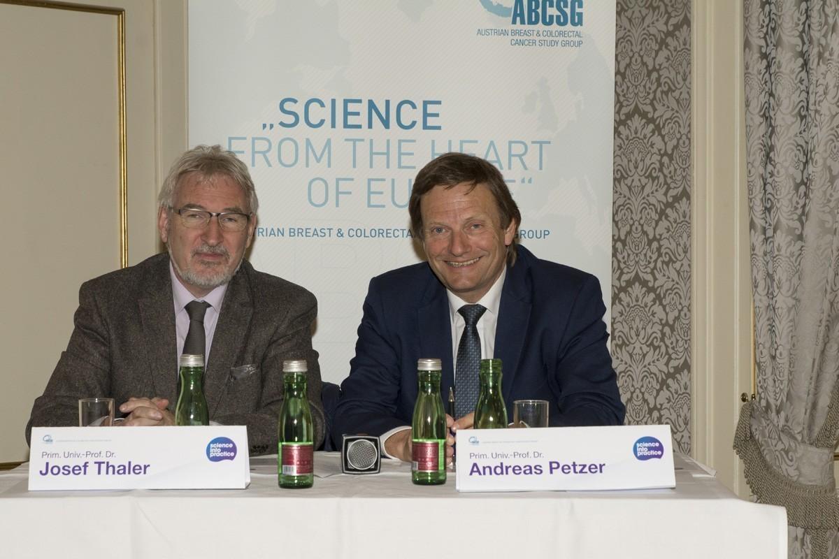 Gute Stimmung bei den Vorsitzenden: Josef Thaler und Andreas Petzer.