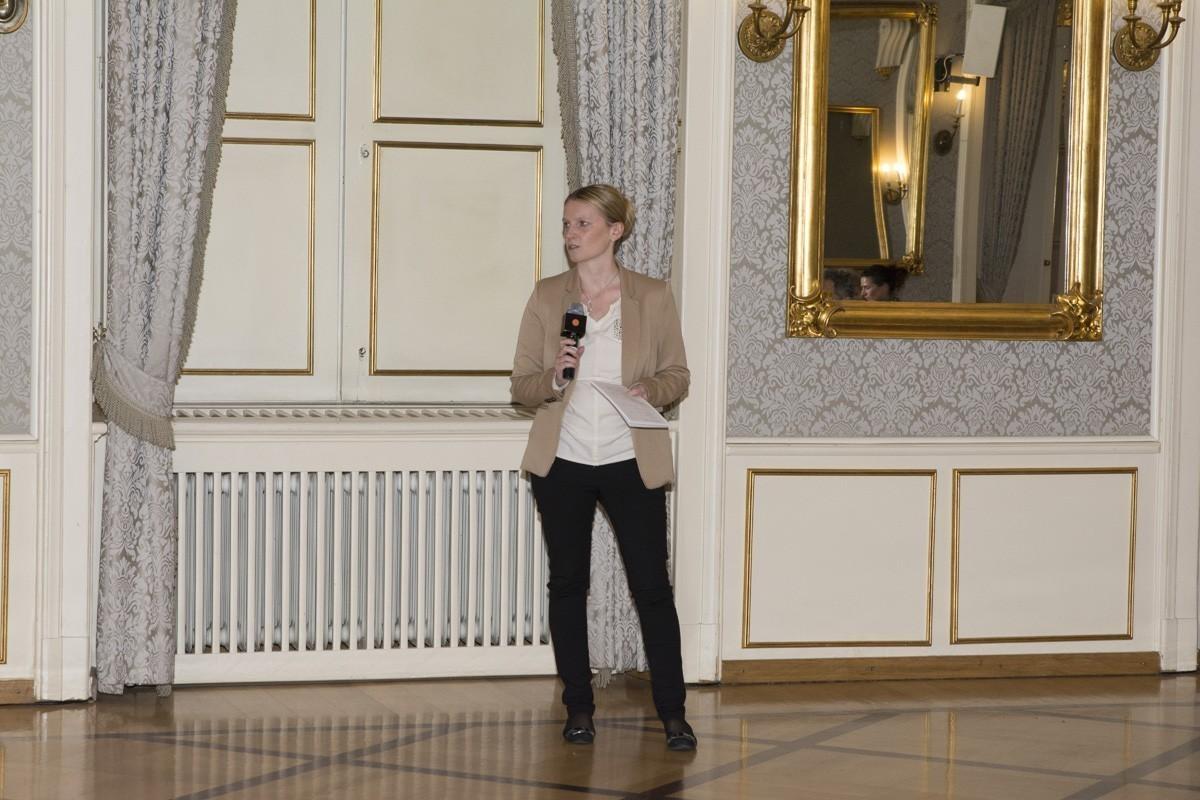 Präsentierte das letzte Gruppenergebnis des Abends: Gudrun Piringer.