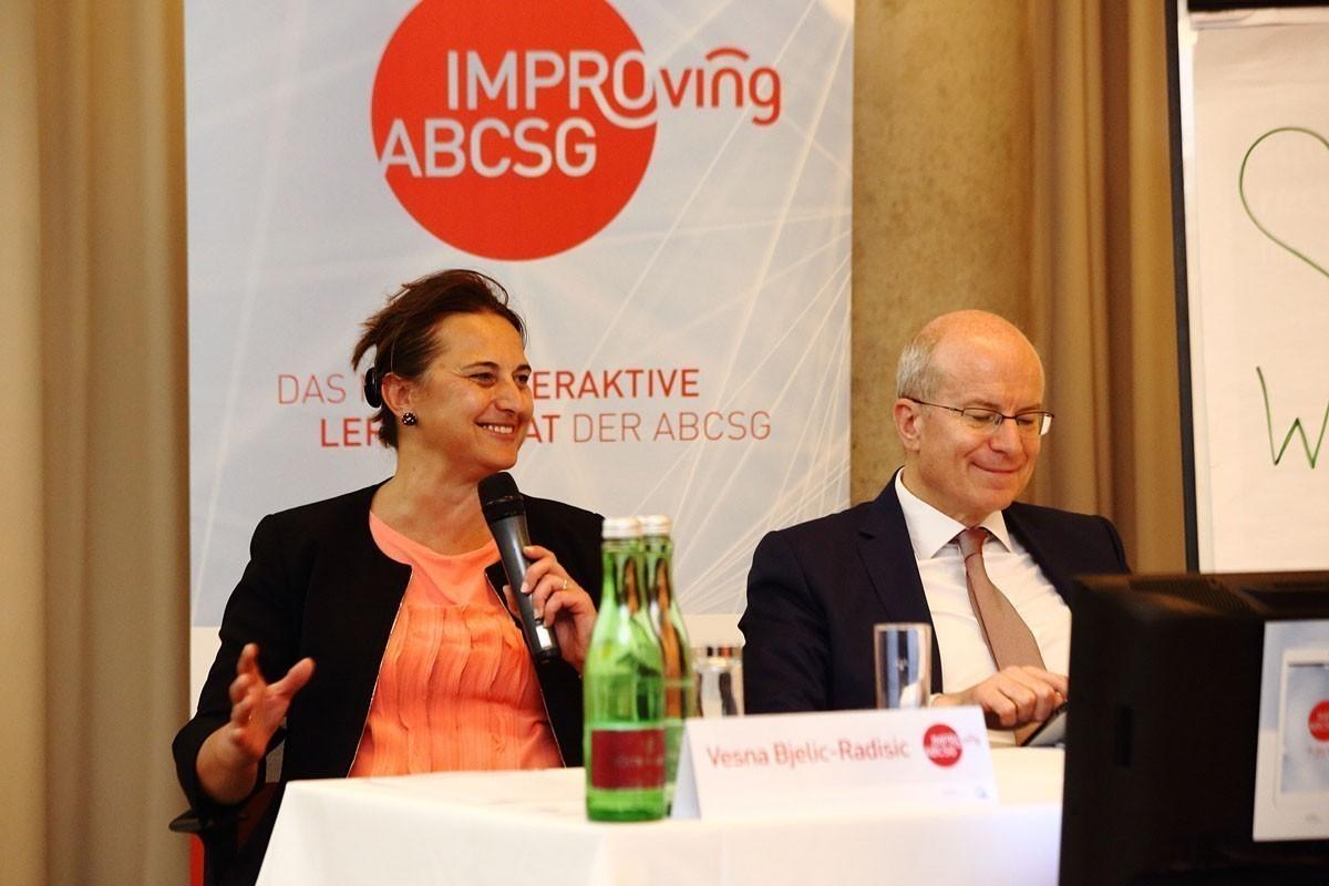 In Hochform und bester Laune: die Vorsitzenden Vesna Bjelic-Radisic und Sigurd Lax.