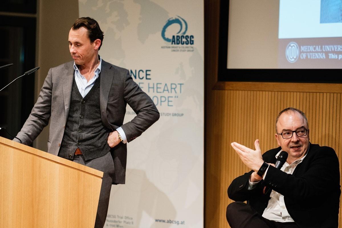 Hier sah das Panel schon einigen Diskussionsbedarf: Florian Fitzal und Michael Gnant (v.l.n.r.).