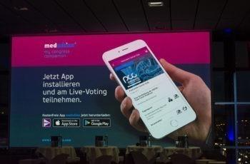 Erstmals mit Live-Voting - mit der kostenlosen App medwhizz ist man dabei.