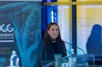 Sonja Burgstaller aus Wels-Grieskirchen gab einen Überblick über internistische Konzepte bei lokal fortgeschrittenem oder metastasiertem Pankreaskarzinom.