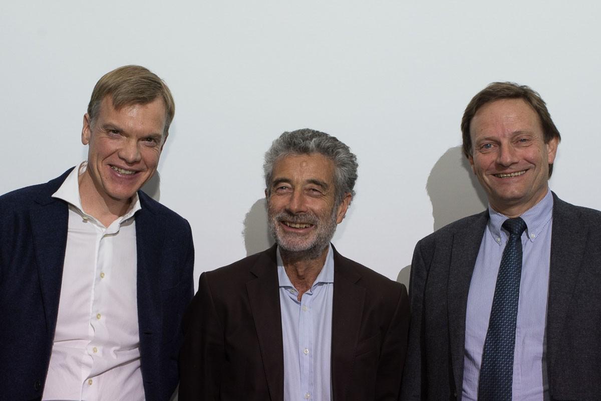 Nicht nur die Vorsitzenden waren mit diesem Abend sehr zufrieden: Martin Schindl. Michael Fridrik und Andreas Petzer (v.l.n.r.).