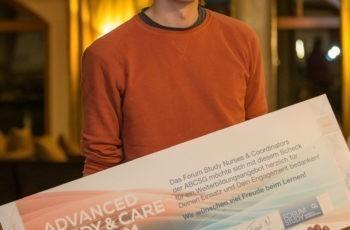 Der am AKH Wien tätige Andreas Ronge wird mit dem Preisgeld eine Monitoring-Ausbildung machen.