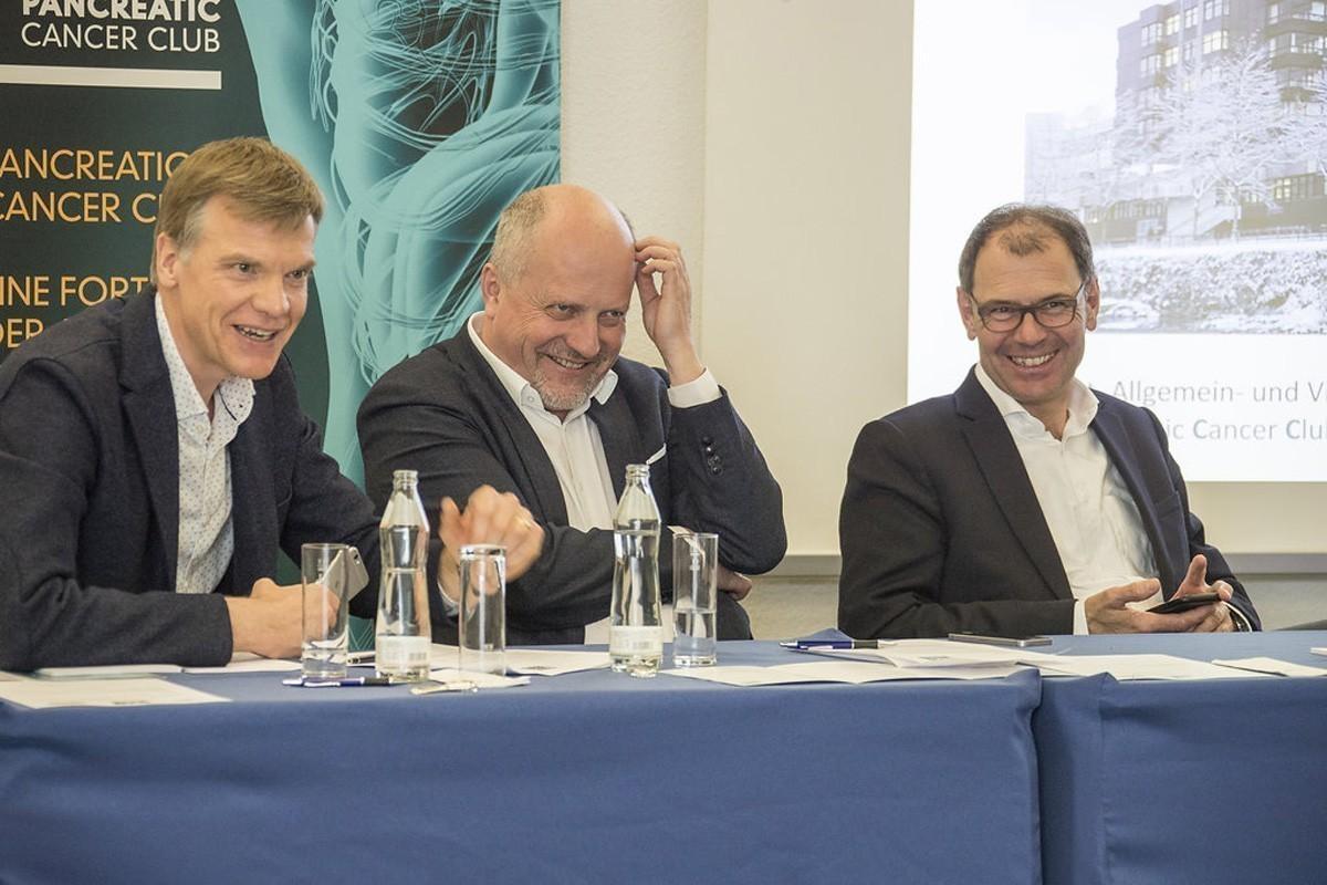Gute Stimmung bei den Vorsitzenden: Martin Schindl, Dietmar Öfner-Velano, Ewald Wöll (v.l.n.r.).