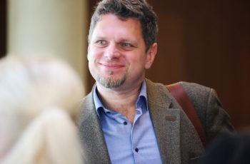 Gut gelaunt: Gerald Hütter von der Sponsorfirma Roche.