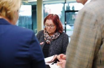 Für die kurzfristig verhinderte Fotini Vagena als Gruppensprecherin eingesprungen: Renate Schaberl-Moser.