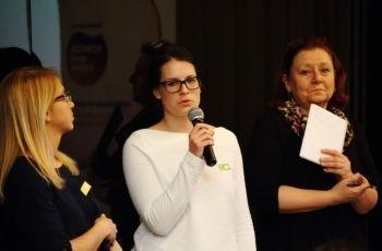 Die Gruppensprecherinnen beim Rapport: Jasmin Terciz, Julia Reisinger und Renate Schaberl-Moser (v.l.n.r.).