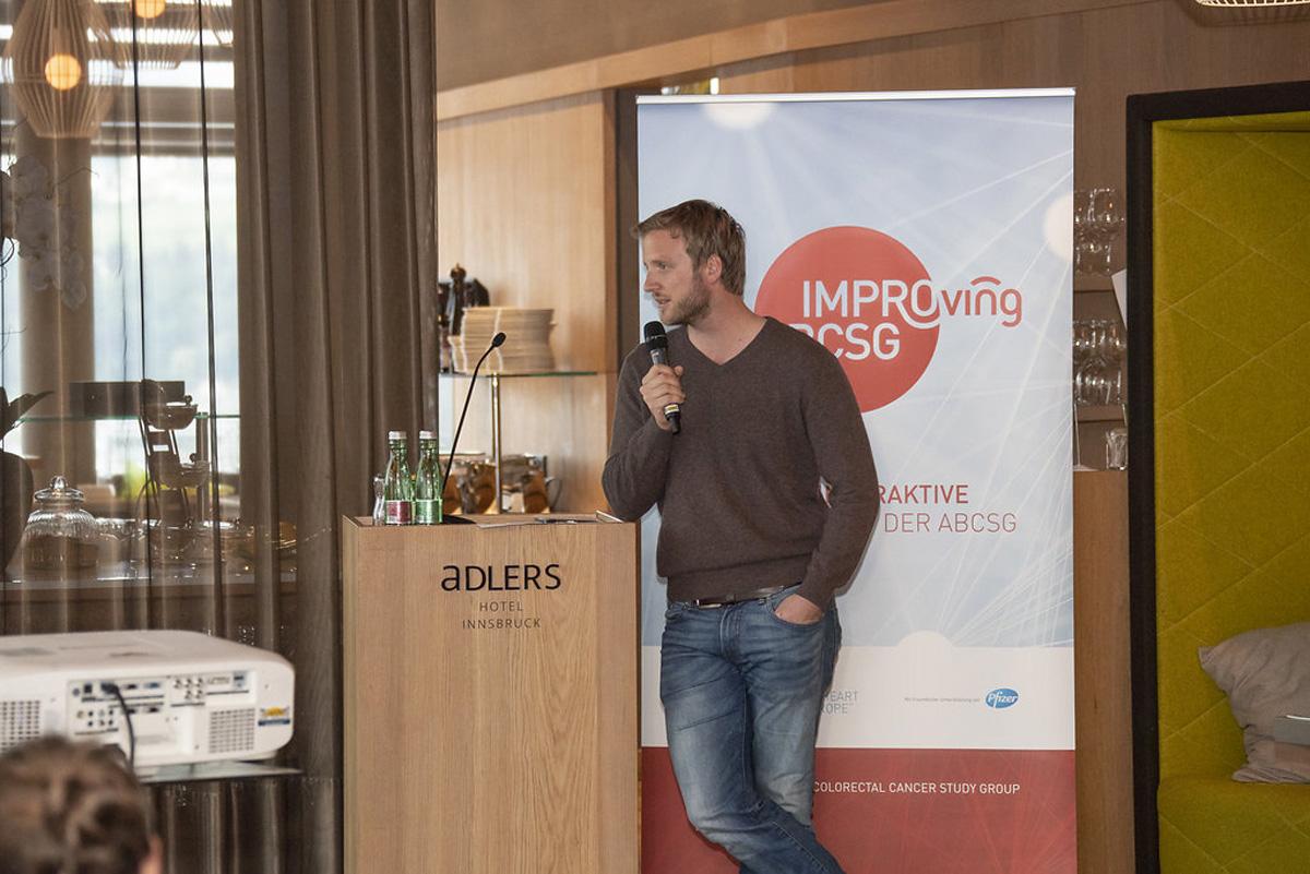 Kilian Vomstein präsentierte das Gruppenergebnis.