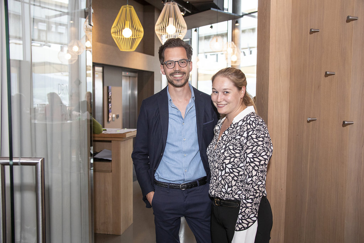 IMPROving-Team, fast komplett: Christoph Suppan und Theresa Czech.