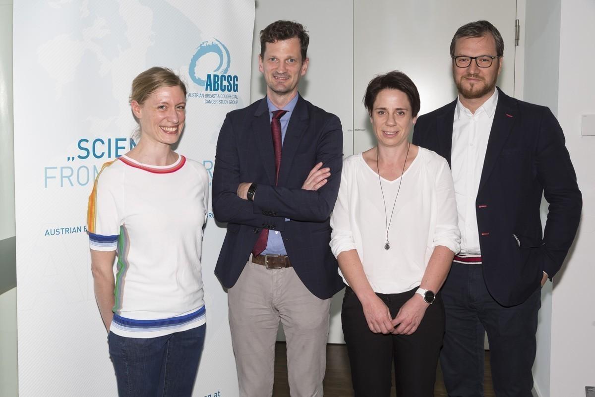 """Das """"Hands on Science""""-Team in Feldkirch: Judith Mathis, Holger Rumpold, Margit Sandholzer und Daniel Egle (v.l.n.r.)."""""""