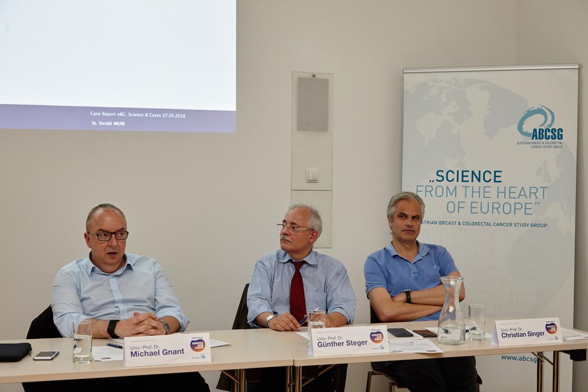 Die Vorsitzenden eröffneten den Abend: Michael Gnant, Günther Steger und Christian Singer.
