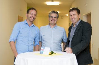 Gute Stimmung bei den Vortragenden: Gregor Huber, Maximilian Tomka und Harald Weiß (v.l.n.r.).