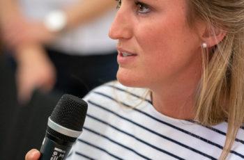 Jennifer Kager war so freundlich, ebenfalls als Gruppensprecherin einzuspringen.