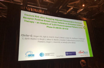 Georg Pfeiler präsentiert ABCSG 18 in Montreal