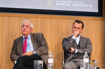 Das Panel war hochkonzentriert: Günther Steger (links) und Florian Fitzal, ..
