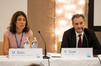 Zwei der vier ABCSG-Vizepräsidenten hatten den Vorsitz über die folgende Session inne: Marija Balic und Richard Greil.