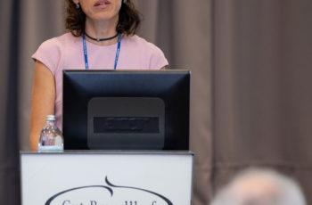 ABCSG-Vizepräsidentin Marija Balic setzte mit den translationalen Projekten bei ABCSG 18 den Schlusspunkt über die erste Session in Saalfelden.