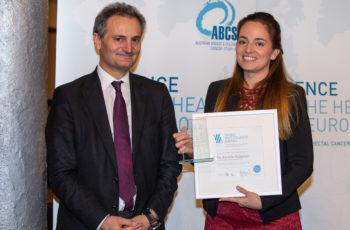 Kerstin Wimmer von der Chirurgie an der MedUni Wien nahm die Anerkennung erfreut entgegen.