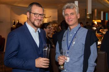 Gynäkologen unter sich: Daniel Egle und Christopher Hager (v.l.n.r.).