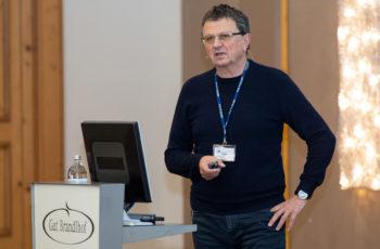 Reinhold Függer sprach über das Pankreas-Register und gab gemeinsam mit Martin Schindl und Carmen Döller ein Update zur laufenden ABCSG-Pankreasstudie P02.