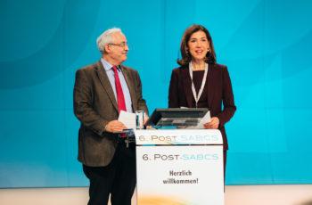 Moderationsduo aus dem ABCSG-Vorstand: Günther Steger und Vizepräsidentin Marija Balic.